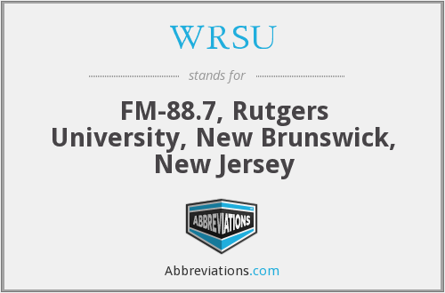What does WRSU stand for?
