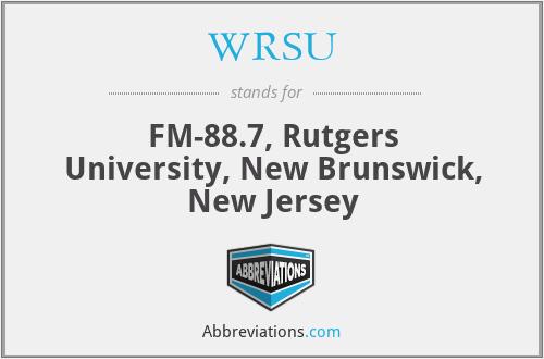 WRSU - FM-88.7, Rutgers University, New Brunswick, New Jersey