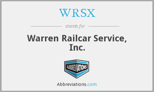 WRSX - Warren Railcar Service, Inc.