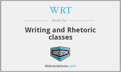 WRT - Writing and Rhetoric classes
