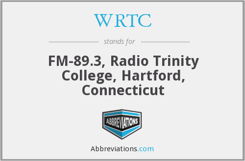 WRTC - FM-89.3, Radio Trinity College, Hartford, Connecticut