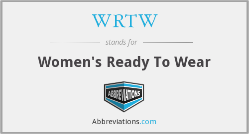 WRTW - Women's Ready To Wear