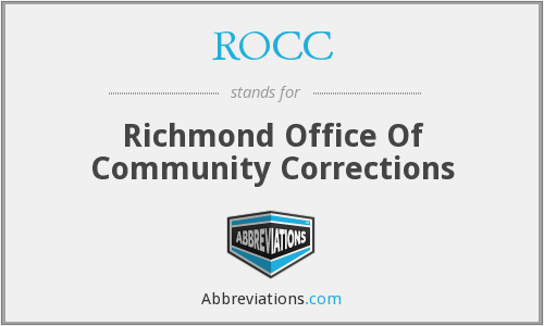 ROCC - Richmond Office Of Community Corrections