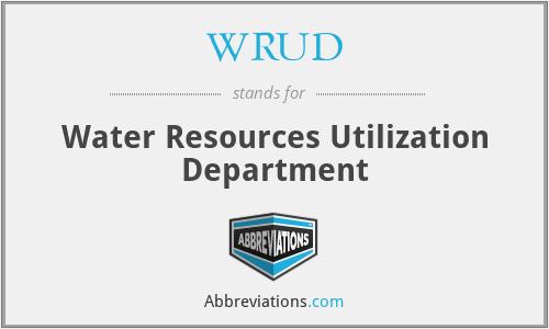 WRUD - Water Resources Utilization Department