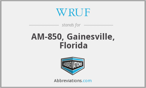 WRUF - AM-850, Gainesville, Florida