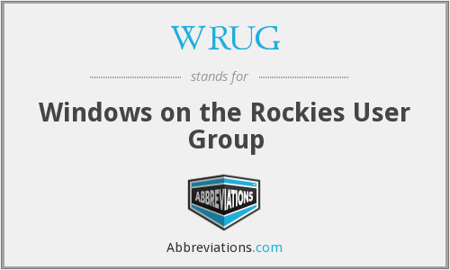 WRUG - Windows on the Rockies User Group