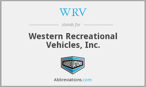 WRV - Western Recreational Vehicles, Inc.