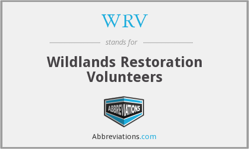 WRV - Wildlands Restoration Volunteers
