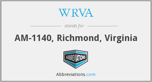 What does WRVA stand for?