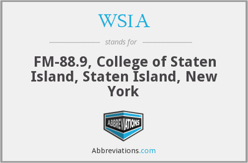 WSIA - FM-88.9, College of Staten Island, Staten Island, New York
