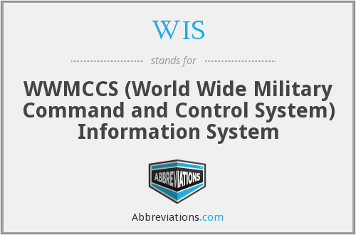 WIS - WWMCCS (World Wide Military Command and Control System) Information System