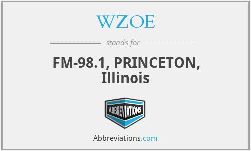 WZOE - FM-98.1, PRINCETON, Illinois