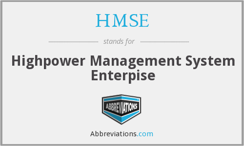 What does HMSE stand for?