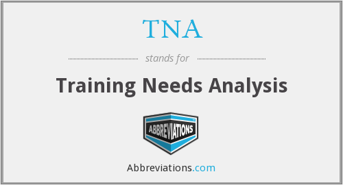 TNA - Training Needs Analysis