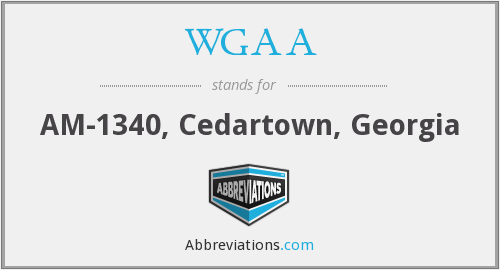 WGAA - AM-1340, Cedartown, Georgia