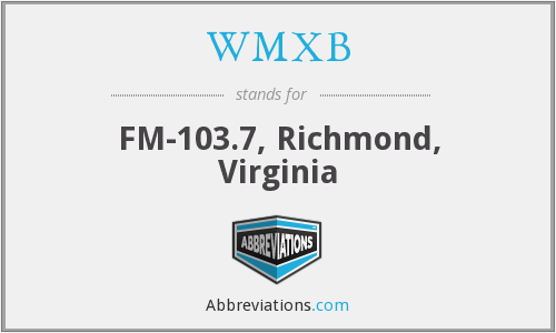 WMXB - FM-103.7, Richmond, Virginia