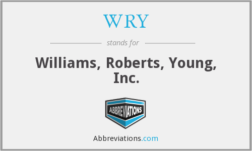 WRY - Williams, Roberts, Young, Inc.