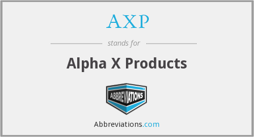 AXP - Alpha X Products