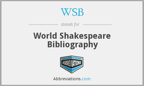 WSB - World Shakespeare Bibliography