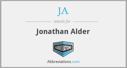 JA - Jonathan Alder