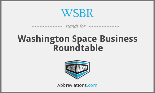 WSBR - Washington Space Business Roundtable