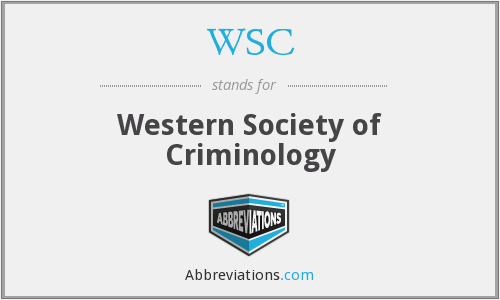 WSC - Western Society of Criminology