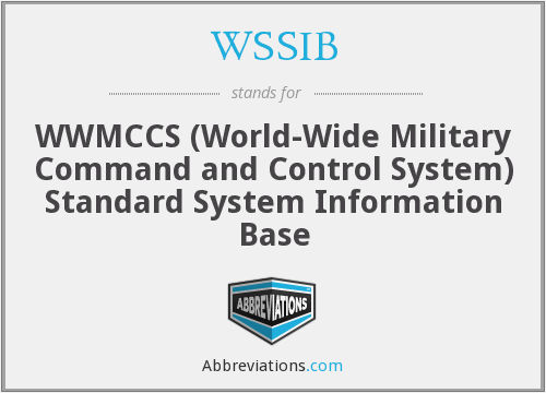 WSSIB - WWMCCS (World-Wide Military Command and Control System) Standard System Information Base