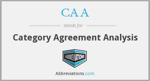 CAA - Category Agreement Analysis