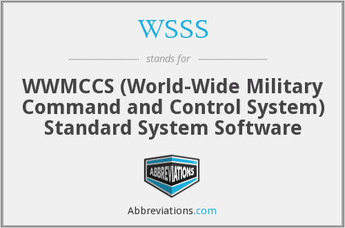 WSSS - WWMCCS (World-Wide Military Command and Control System) Standard System Software