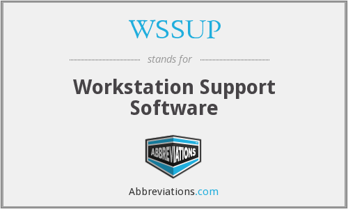WSSUP - Workstation Support Software