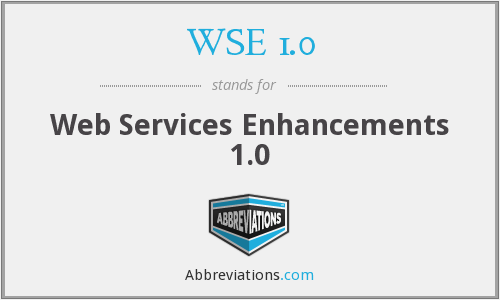 What does WSE 1.0 stand for?