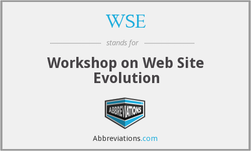 WSE - Workshop on Web Site Evolution