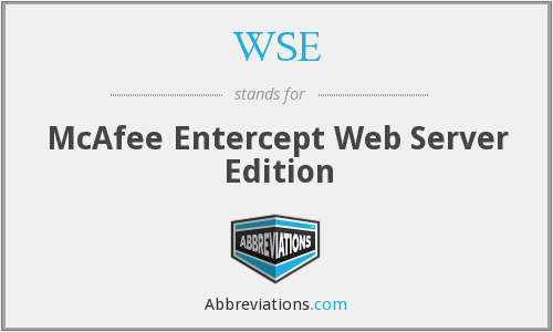 WSE - McAfee Entercept Web Server Edition