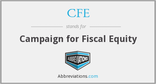 CFE - Campaign for Fiscal Equity
