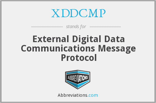 What does XDDCMP stand for?