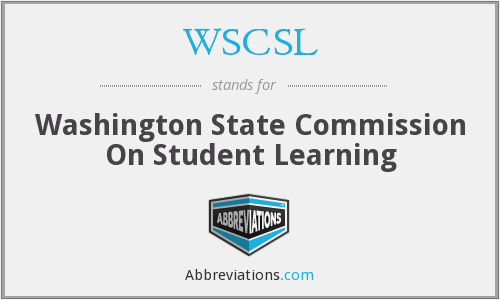 WSCSL - Washington State Commission On Student Learning