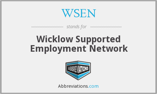 What does WSEN stand for?