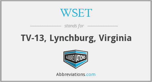 WSET - TV-13, Lynchburg, Virginia