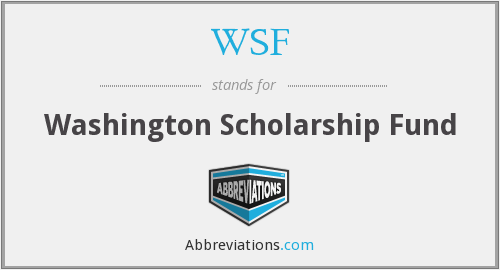 WSF - Washington Scholarship Fund
