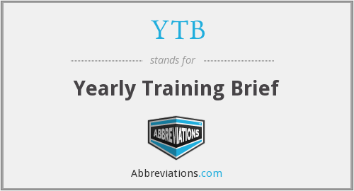 YTB - Yearly Training Brief