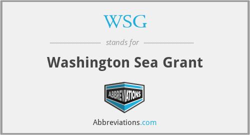 WSG - Washington Sea Grant