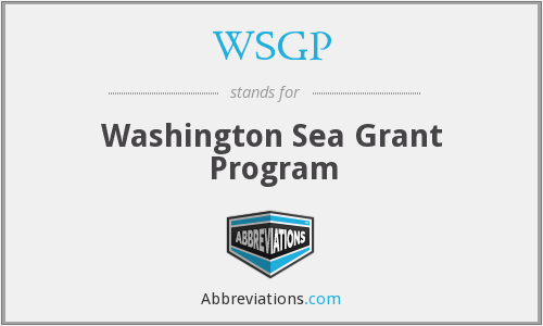 WSGP - Washington Sea Grant Program