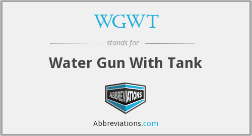 WGWT - Water Gun With Tank