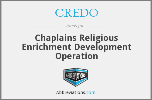 CREDO - Chaplains Religious Enrichment Development Operation