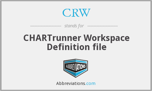 CRW - CHARTrunner Workspace Definition file