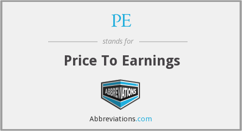 PE - Price To Earnings