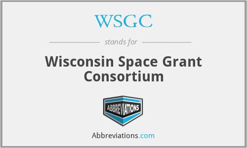 WSGC - Wisconsin Space Grant Consortium