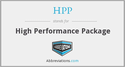 HPP - High Performance Package