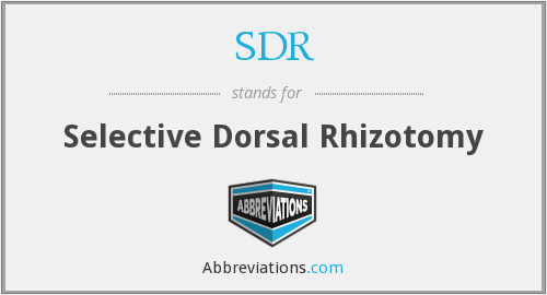 SDR - Selective Dorsal Rhizotomy