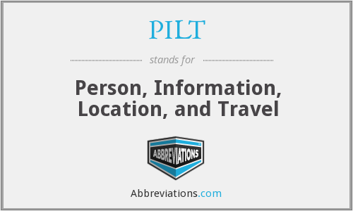 PILT - Person Information Location And Travel